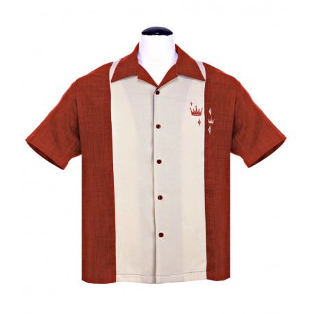 CHEMISE STEADY / CONTRAST CROWN Rust