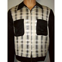 TARANTULA Weekender Jacket Black & Silver Plaid