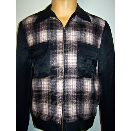 TARANTULA Weekender Jacket Black & Light Pink Plaid