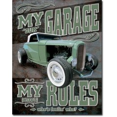 PLAQUE US TIN SIGN - MY GARAGE *