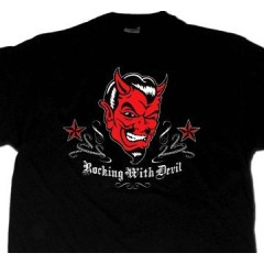 "TEE-SHIRT ""Rocking with Devil"""