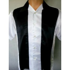 CHEMISE - Panel White & Black