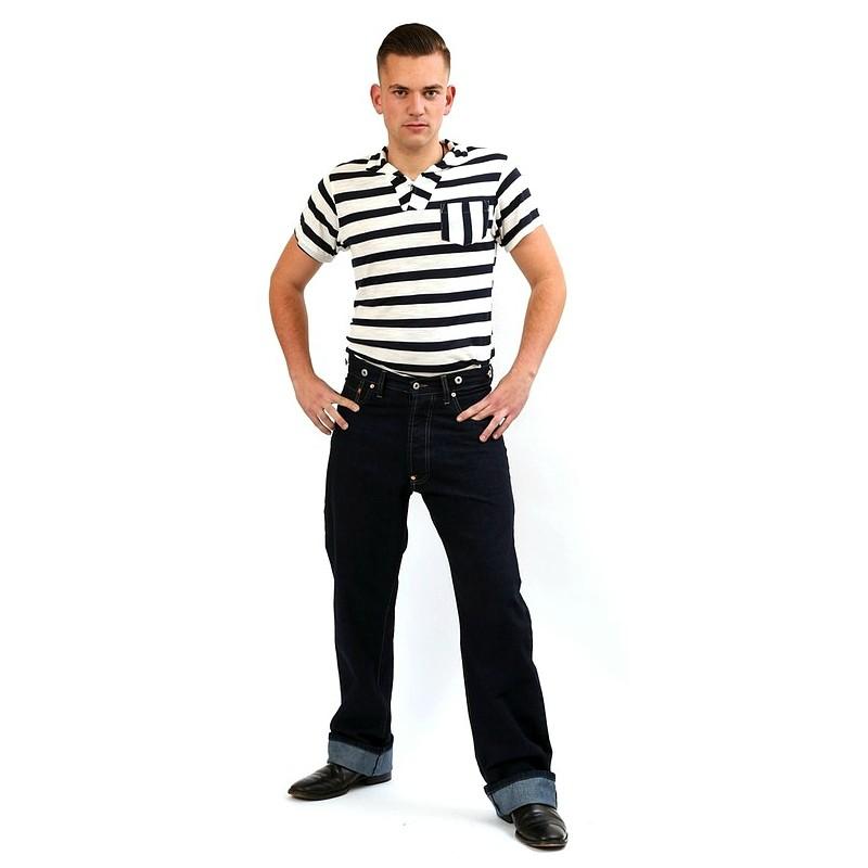 1940s mens jeans freddies of pinewood raw denim
