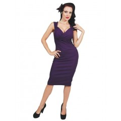 "ROBE ""PURPLE DIVA DRESS"" ROCK STEADY de STEADY CLOTHING"
