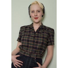 "WORK BLOUSE ""TARTAN"" FREDDIES of PINEWOOD"