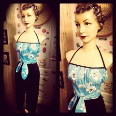 CORSAIRE TAILLE HAUTE PIN UP 50'S ROCK AROUND TALLULAH