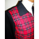 "VESTE TARANTULA ""Boyfriend Jacket"" Black & Red Plaid"