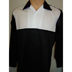 CHEMISE manches longues Two tone Black & White