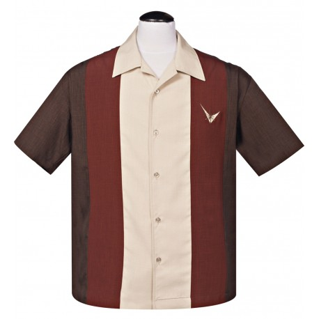 CHEMISE STEADY / ATOMIC MAD MEN BROWN