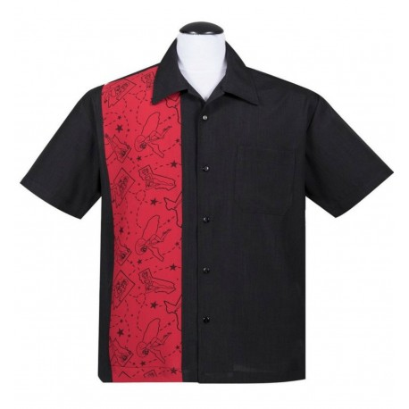 CHEMISE STEADY / Pin-Up State Panel Shirt