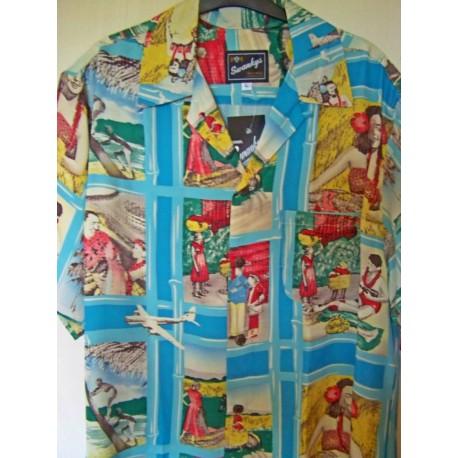SWANKYS HAWAIIAN Postcards Shirt