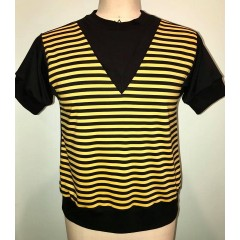 TARANTULA Sci-Fi Polo Top Black & Yellow