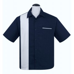 CHEMISE STEADY / POP CHECK NAVY