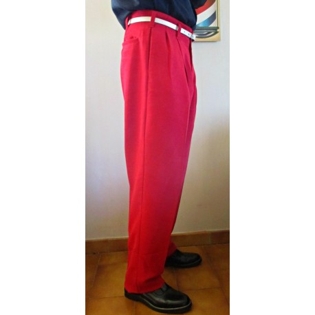 TARANTULA Holywood High Waisted Trousers Red
