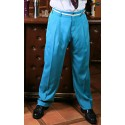 TARANTULA Holywood High Waisted Trousers Turquoise Blue