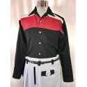 SWANKYS DEL MAR Ls Shirt Black & red fleck