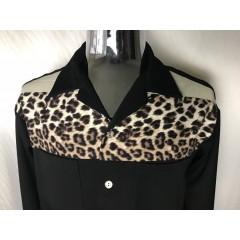 SWANKYS DEL MAR Ls Shirt Black & Leopard