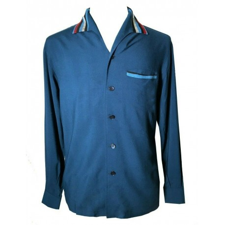 SWANKYS ELVIS Blue Jade LS Shirt