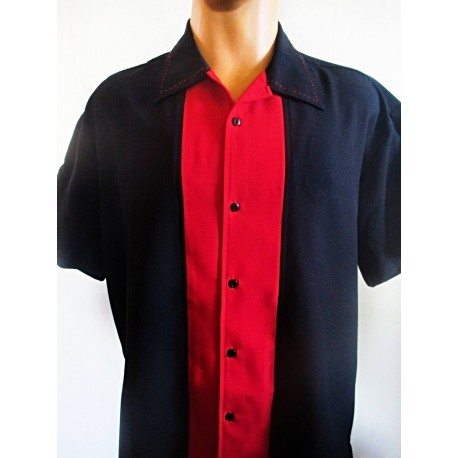 CHEMISE STEADY Big Daddy Blk/Red