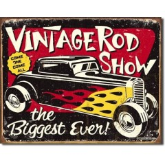 PLAQUE US TIN SIGN - VINTAGE ROD SHOW