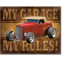 PLAQUE US TIN SIGN - MY GARAGE
