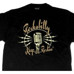 "TEE-SHIRT ""Rockabilly Keep on Rockin' """