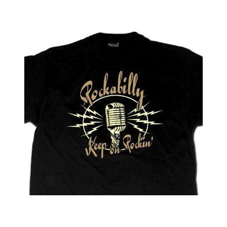 """TEE-SHIRT """"Rockabilly Keep on Rockin' """""""
