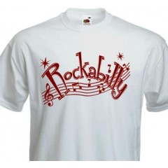 "TEE-SHIRT ""Rockabilly Music Notes"""
