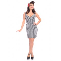 "ROBE ""STRIPED DIVA DRESS"" ROCK STEADY de STEADY CLOTHING"