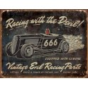 PLAQUE US TIN SIGN - VINTAGE EVIL RACING
