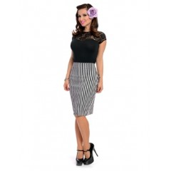 """STRIPED NIKKI"" SKIRT ROCK STEADY by STEADY CLOTHING"