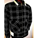 SWANKYS ZIPPER Black Plaid Atomic Fleck RITCHIE JACKET