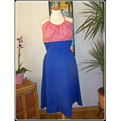 ROBE DOS NU STYLE 40'S ROCK AROUND TALLULAH T.38/40